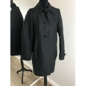 H&M Black 2 Button Winter Casual Everyday Coat 4